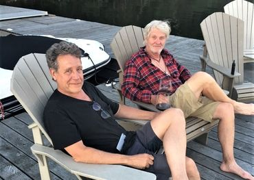 Gerry at Tom Cochrane's cottage last summer.