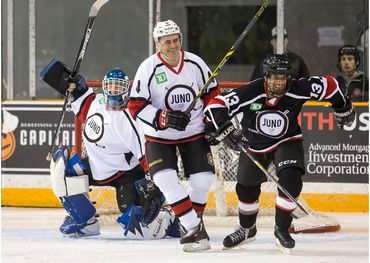 On-ice action from last year's Juno Cup in Ottawa