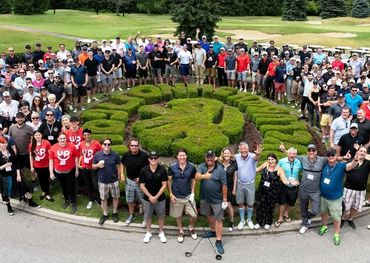 Golf players at the Toronto tournament, photo by Barry Roden