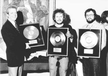 WMC president Ken Middleton, Gordon Lightfoot and his (then) manager, Alexander Mair, circa early 1970s
