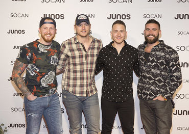 Double Juno nominees James Barker Band won for Country Album of the Year