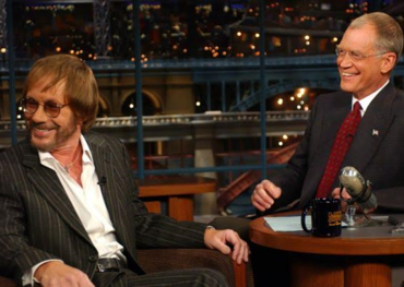 Guesting on David Letterman's Late Night