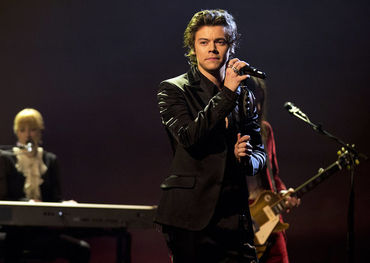 Harry Styles in a recent Graham Norton TV show performance