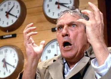 Howard Beale on a tear in '70s film Network.