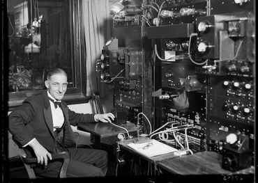 Jack Sharpe at the CFRB control board, Nov 17, 1930. Pic: @Torontoarchinves