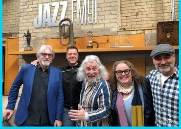 Jazz.FM crew reunited: Bill and Jesse King, Jaymz Bee, Heather Bambrick and Walter Venafro