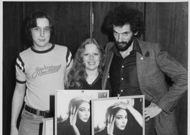 John Terminesi with the late Nanci Krant, along with Brian Master at CHUM FM circa 1979