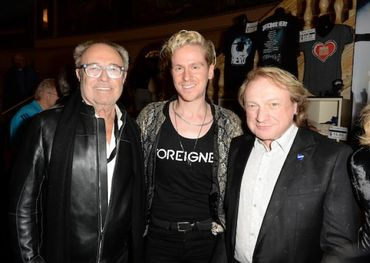Mick Jones, Gordie Brown, Lou Gramm. Photo credit: Tom Sandler