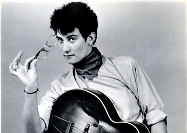 K.D. Lang in an early promotional shot from Bumstead Productions