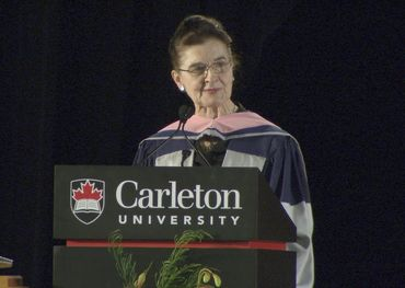 Accepting her Doctorate of Music in 2016
