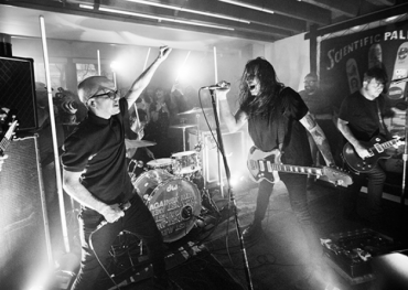 The Cliks' Lucas Silveira joins Against Me!'s Laura Jane Grace at The House of Strombo — photo credit: Vanessa Heins.