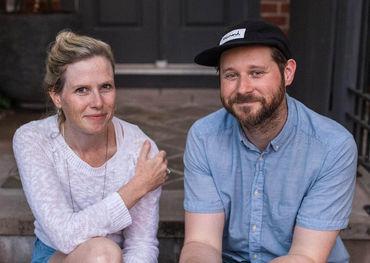 Side Door co-founders, Laura Simpson and Dan Mangan. Photo: Lindsay Duncan