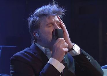 LCD Soundsystem performing on SNL