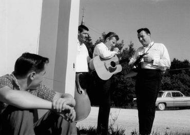 The Two Tones in Orillia for the 1962 Mariposa Folk Festival. From the book, courtesy of Gordon Lightfoot.