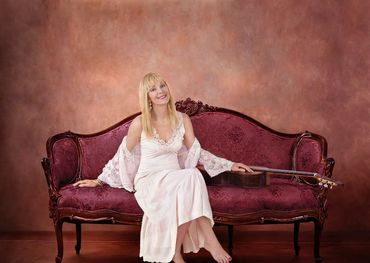 Liona Boyd portrait by Dean Marrantz for No Remedy For Love, the book and album