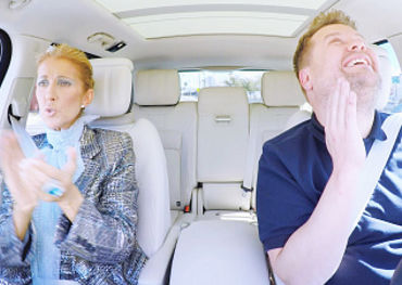 Celine Dion and James Corden  Photo: CBS