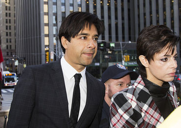 Ghomeshi outside a Toronto court with lawyer Marie Henein   Photo: Maclean's