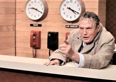"Peter Finch ""mad as hell"" as Howard Beale in the 1976 film, Network"