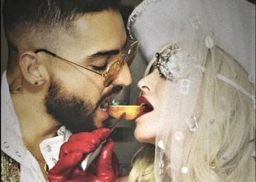 Madonna with Maluma