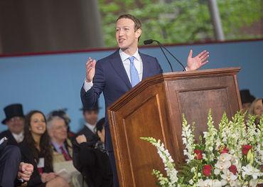 Mark Zuckerberg returns to Harvard