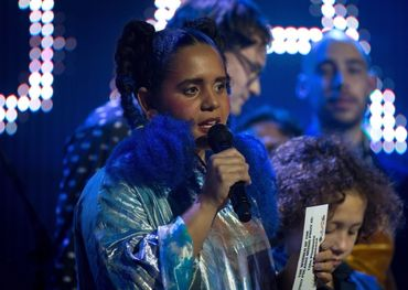 Lido Pimienta receiving her Polaris Music Prize