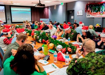 About 1,500 volunteers answer questions about where Santa is every year.  Dennis Carlyle