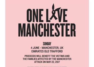 One Love Manchester concert bill