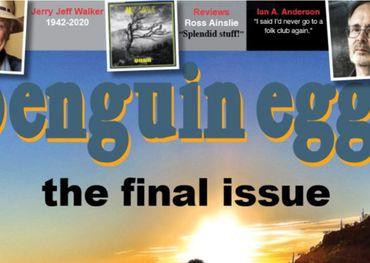 Partial capture of Penguin Eggs' final edition front cover