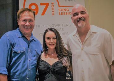 L-R: Grammy winning songwriter Tim Nichols with Robin and Robert Ott