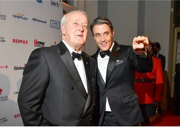 Former Prime Minister Brian Mulroney with his son Ben. Photo: George Pimentel