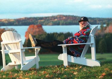 Ronnie Hawkins takes in the view from his just sold Hawkstone Manor in the Kawarthas