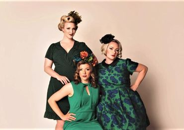 Rosie and the Riveters L-R Allyson Reigh, Alexis Normand, Farideh Olsen credit Crystal Skrupski