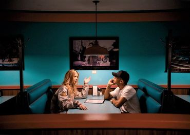 """Sage Harris in the diner with the """"girlfriend"""""""