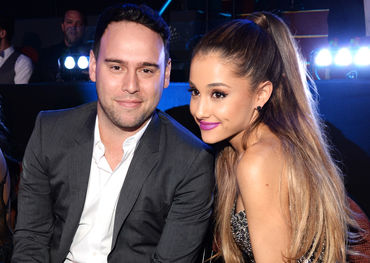 Scooter Braun and Ariana Grande in better times. Pic: Billboard