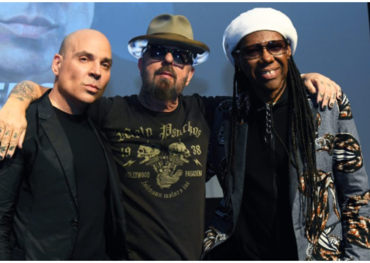 Merck Mercuriadis, Dave Stewart and Nile Rodgers (photo: Grant W. Martin)