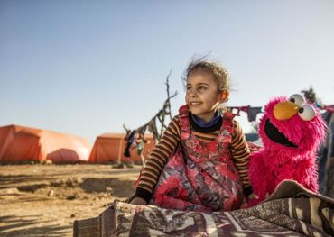 The first 100&Change competition winner to receive $100 million in December 2017 was the Sesame Workshop and the International Rescue Committee as they teamed to educate young children displaced by the Syrian conflict in the Middle East — photo provided.