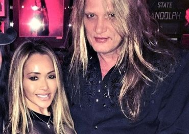 From his Facebook page: Suzanne Le Bach with hubby Sebastian Bach.