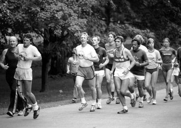 Terry Fox, 1980, running in Ottawa for his Marathon of Hope — photo courtesy of TFF.