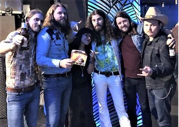 SK winners The Sheepdogs at their final Euro tour stop in Madrid last week.