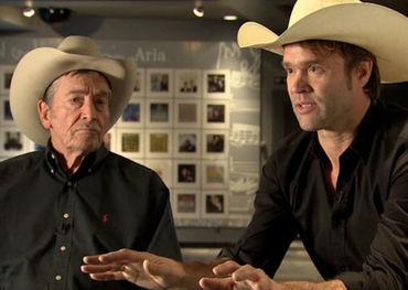 Ian Tyson and Corb Lund Photo: CBC