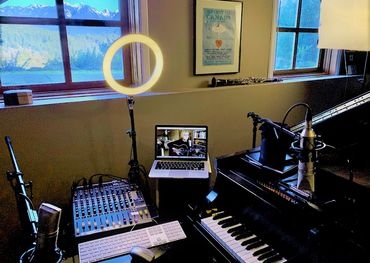 Shari Ulrich's home studio. Pic provided.