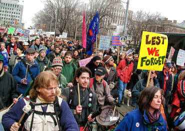 Toronto protest against the Iraq War, March 22, 2003. Photo: Bill King