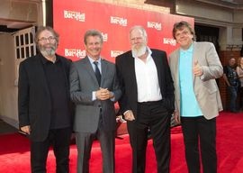 Bat Out Of Hell The Musical producers (from l-r) Michael Cohl, David Sonenberg, Tony Smith, and Randy Lennox