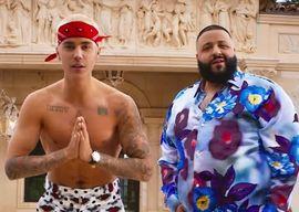 Justin Bieber with DJ Khaled