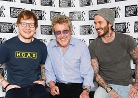 Ed Sheeran, Roger Daltrey and David Beckham