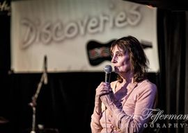 Eric Hefferman captures Jane hosting one of her Discoveries nights at Hugh's Room Live