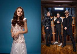 Laura Bretan & Canada's The Tenors. Pic courtesy of Daily Magazine