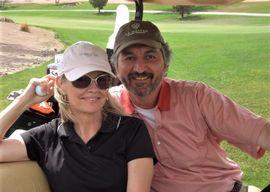 Pat with his wife, Vivi Neggers