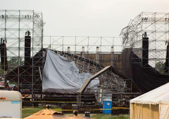 Radiohead stage collapse  Photo: ET Canada