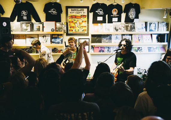 The Raconteurs at Neptoon Records. FB photo
